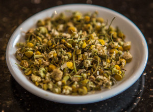 Chamomile flowers for use in a deep cleansing mud mask